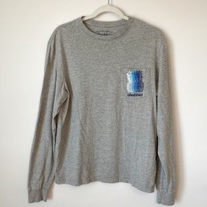 Chubbies Long Sleeve Logo Shirt in Grey Size Small
